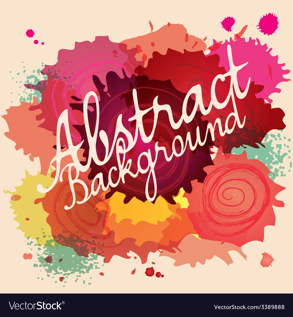 Abstract paint splat colorful background vector | Price: 1 Credit (USD $1)