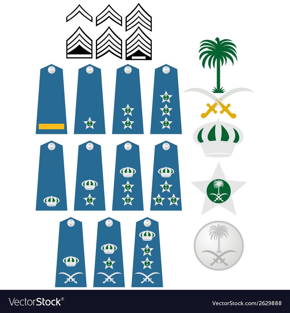 Air force insignia saudi arabia vector | Price: 1 Credit (USD $1)