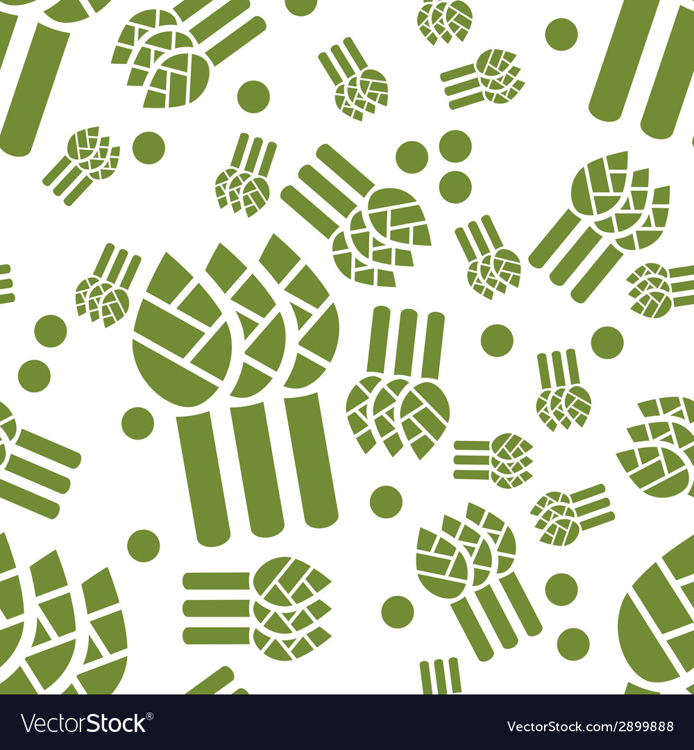 Asparagus seamless pattern vector | Price: 1 Credit (USD $1)