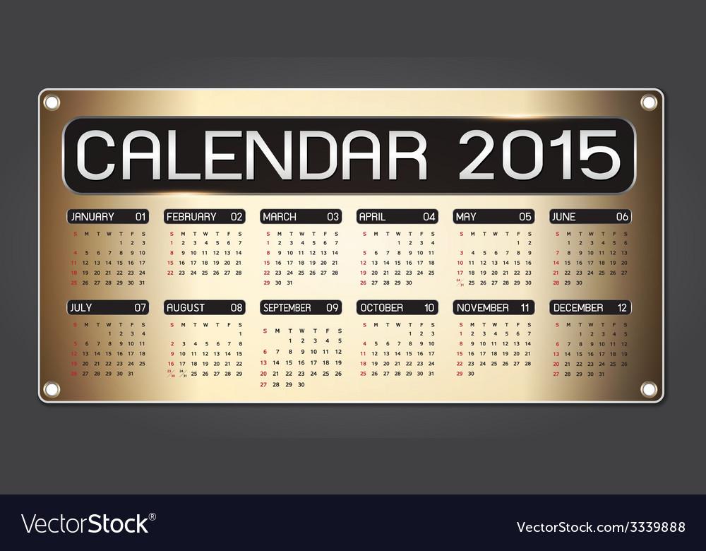 Calendar 2015 fiber background vector | Price: 1 Credit (USD $1)