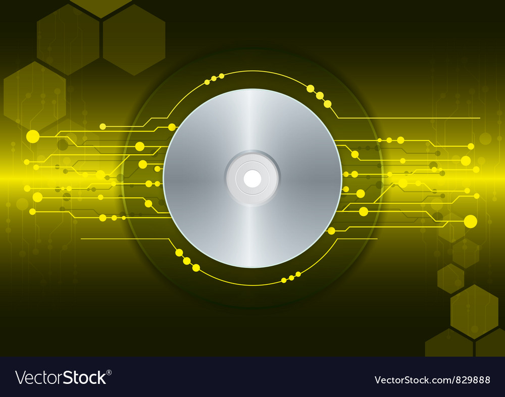 Cd dvd disk on digital background vector | Price: 1 Credit (USD $1)