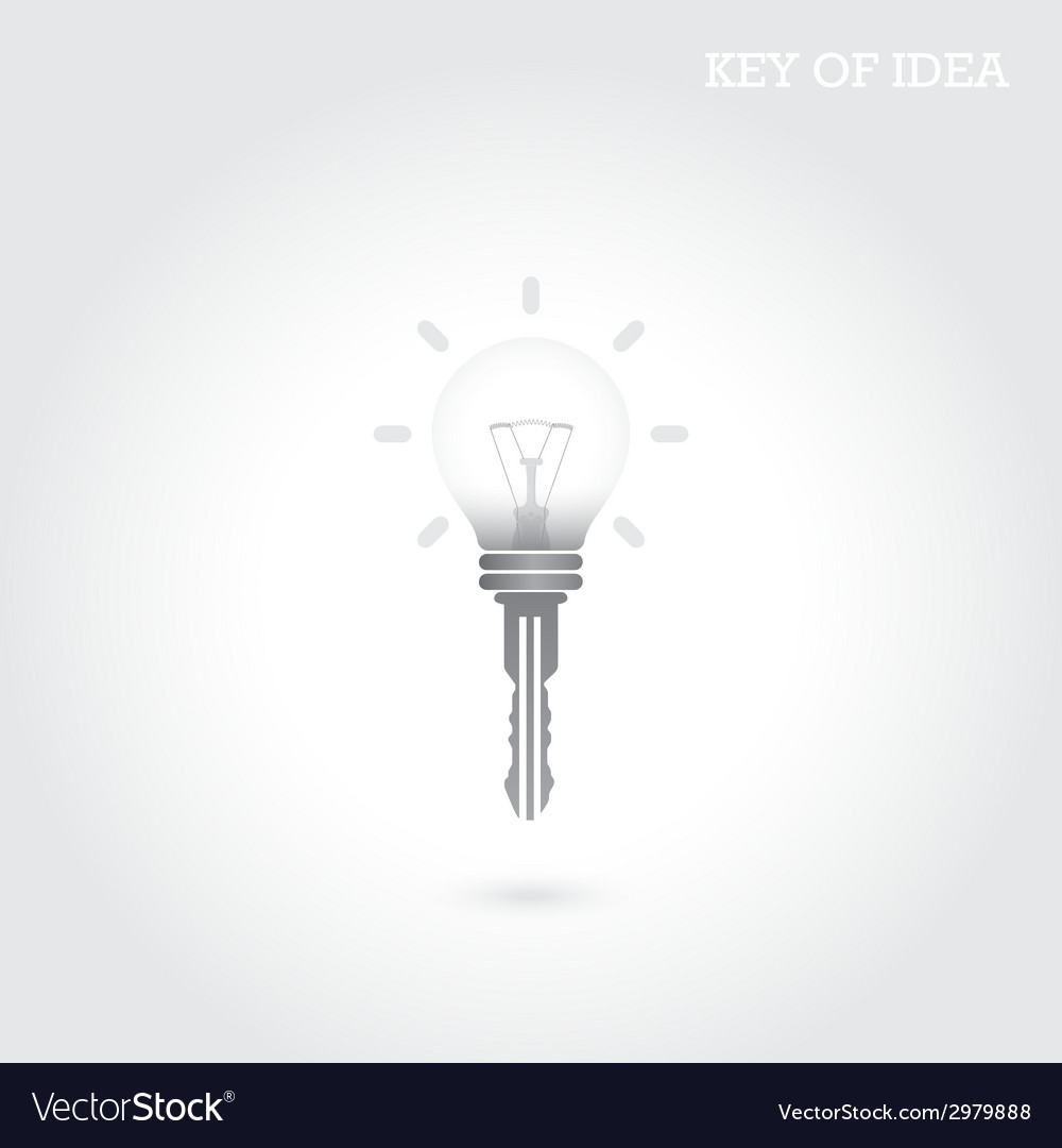 Creative light bulb idea concept vector | Price: 1 Credit (USD $1)