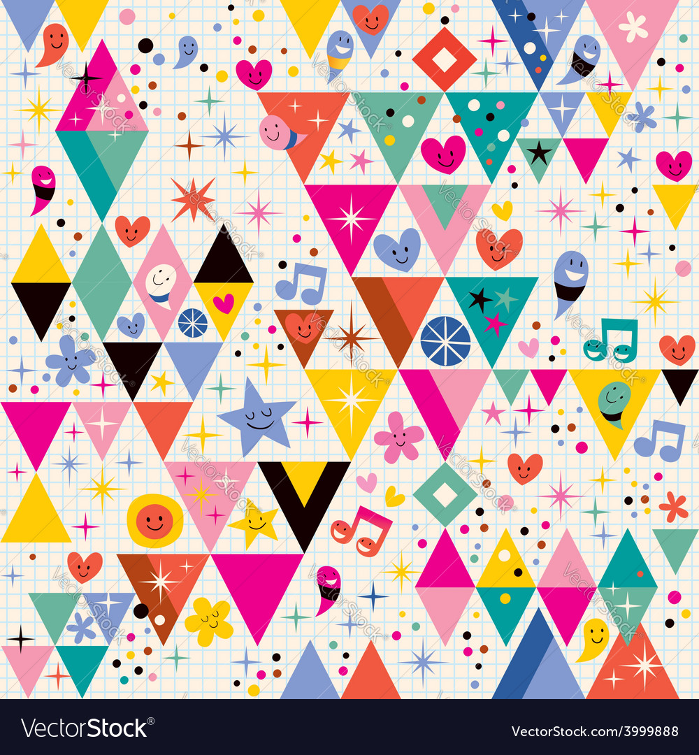 Fun triangles background vector | Price: 1 Credit (USD $1)