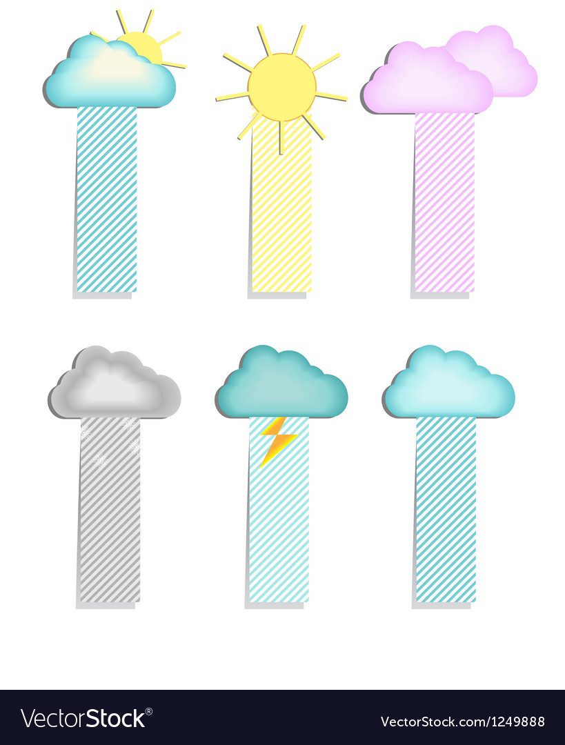 Labels with a cloud vector | Price: 1 Credit (USD $1)