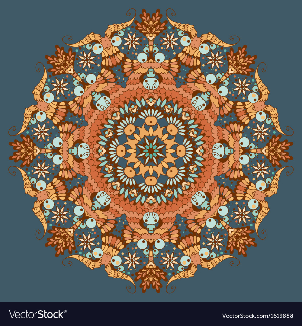 Ornamental round abstract pattern vector | Price: 1 Credit (USD $1)