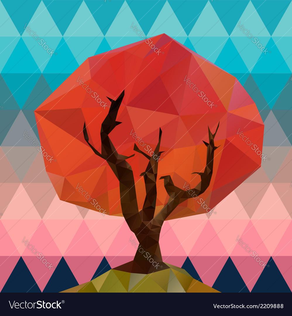 Polygonal tree vector | Price: 1 Credit (USD $1)