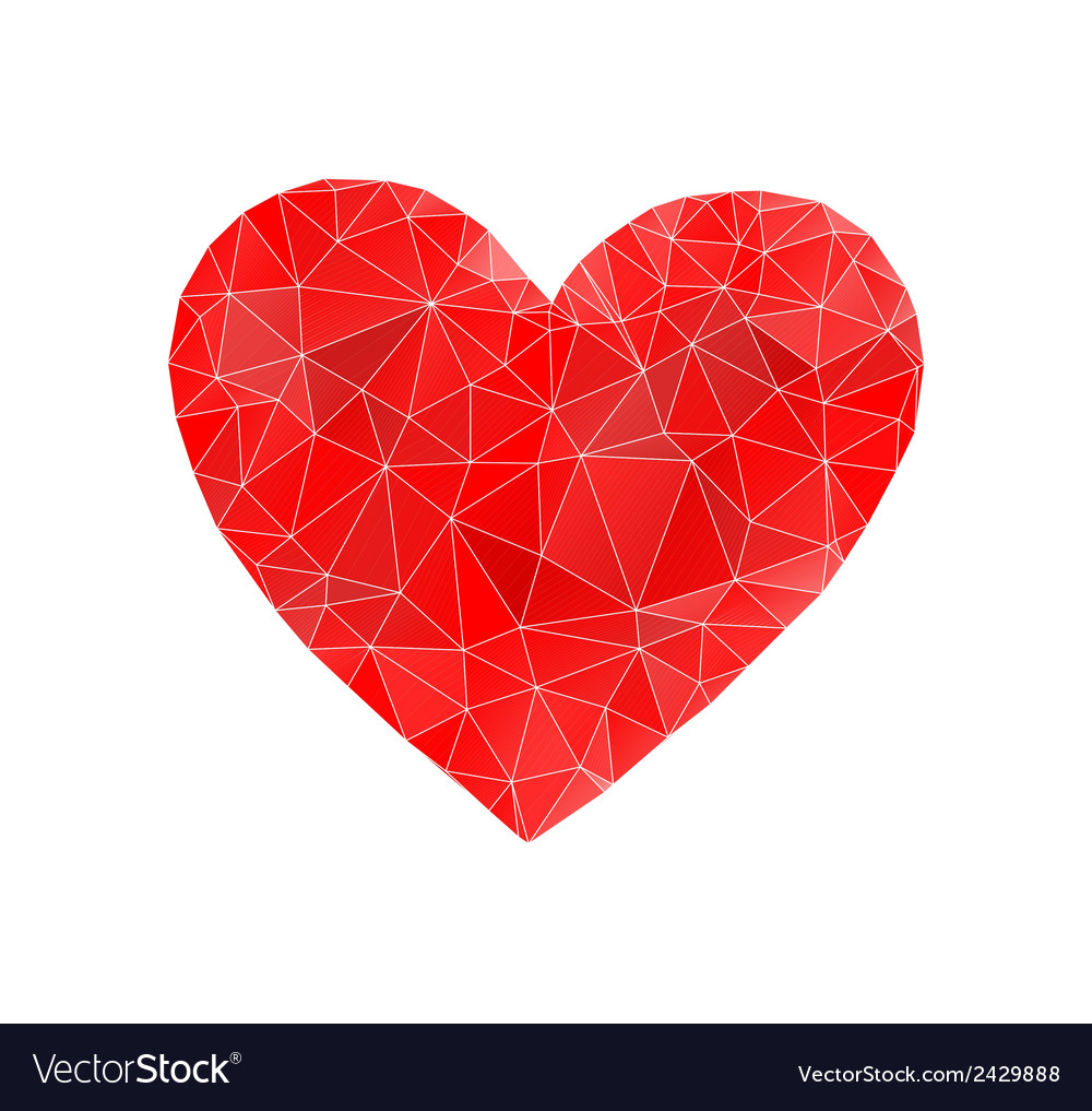 Red heart abstract vector | Price: 1 Credit (USD $1)