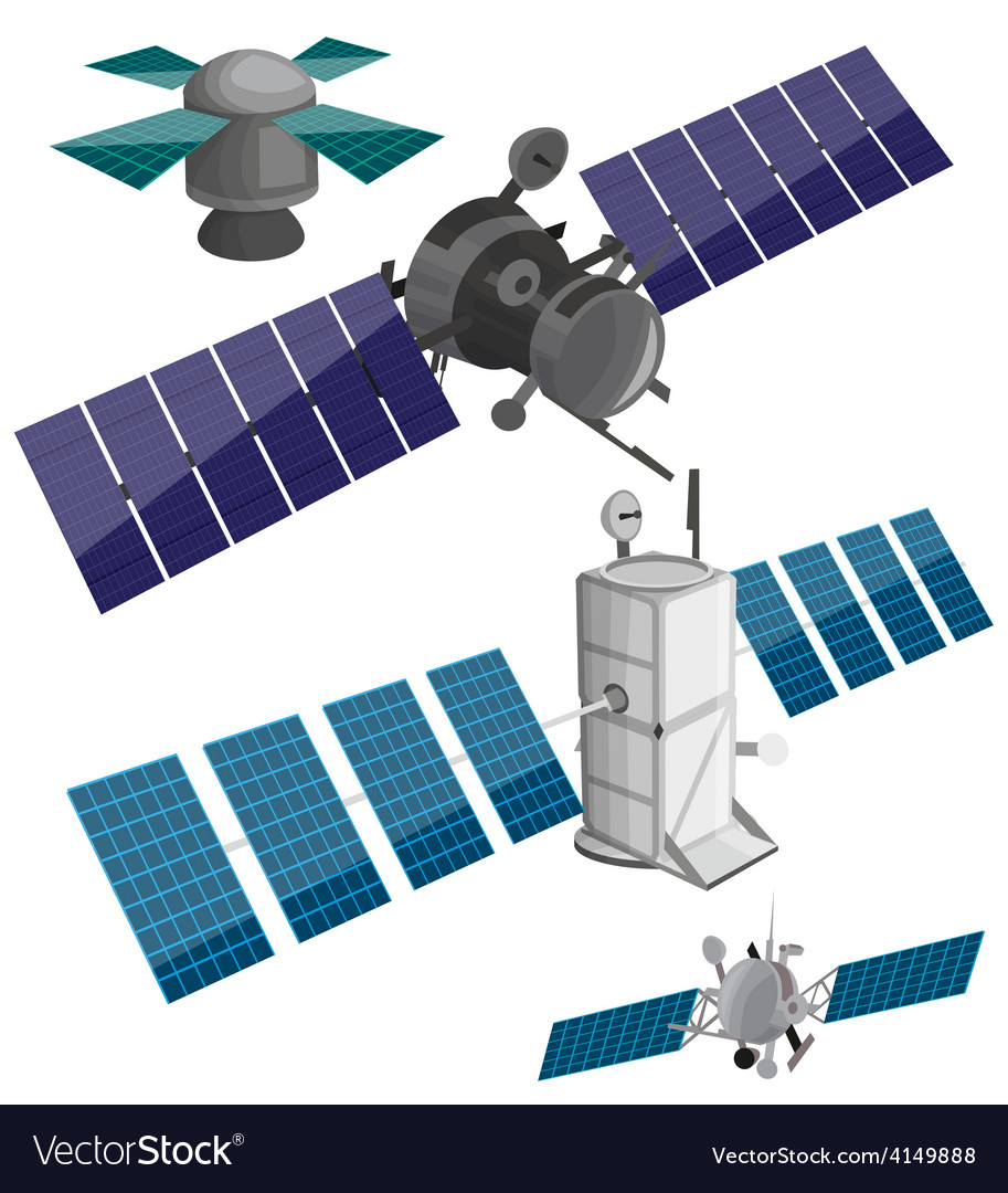 Satellite set vector | Price: 1 Credit (USD $1)