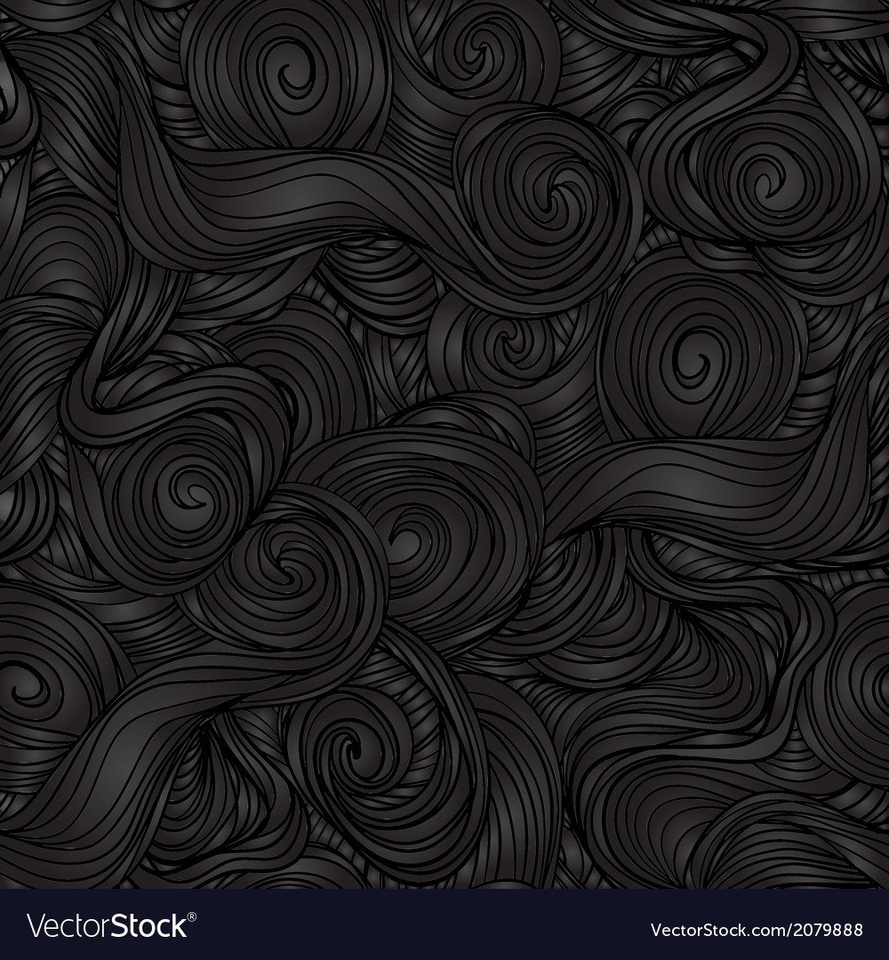 Seamless dark wave hand-drawn pattern vector | Price: 1 Credit (USD $1)