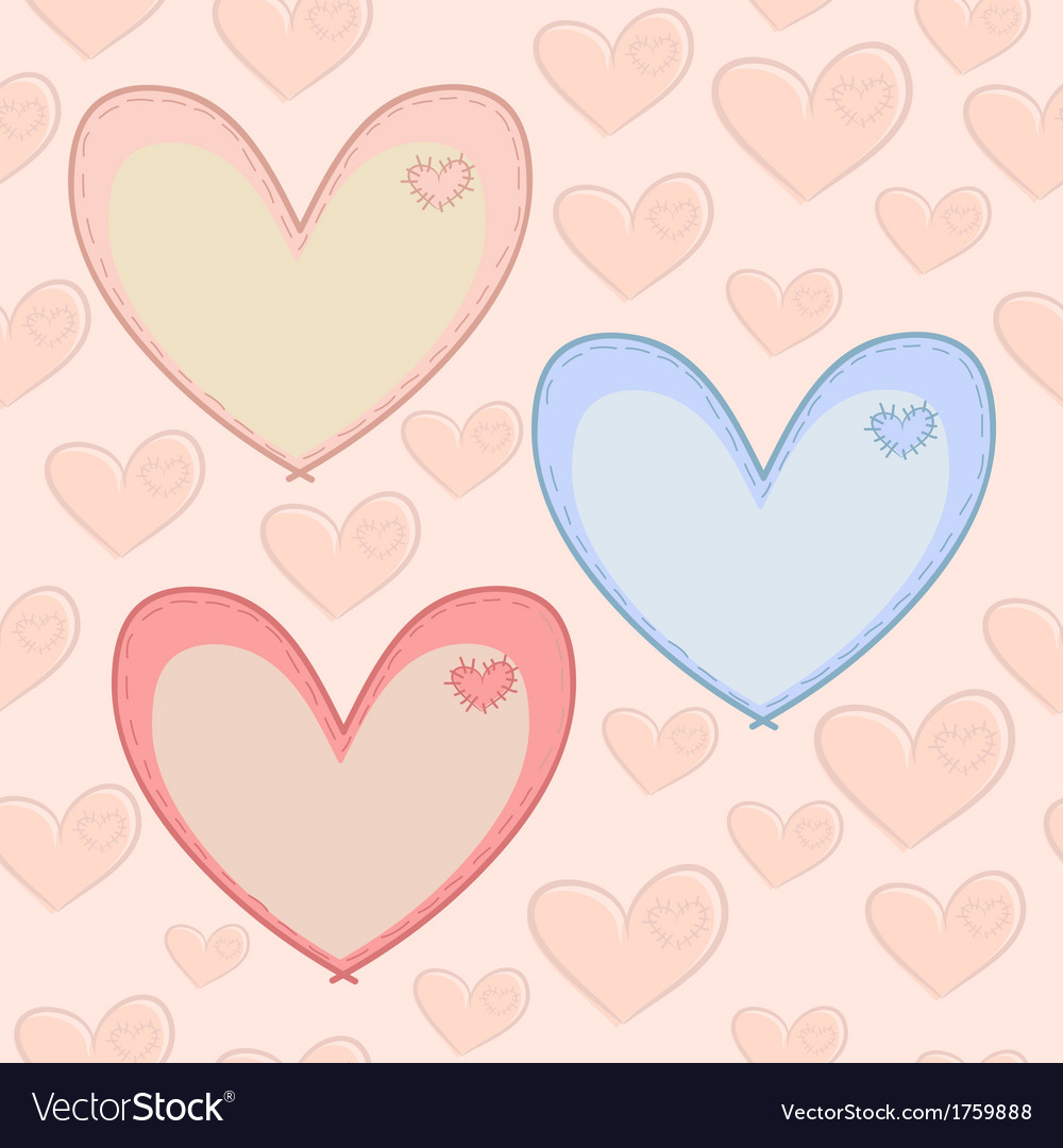 Seamless valentines day pattern with hearts with vector | Price: 1 Credit (USD $1)
