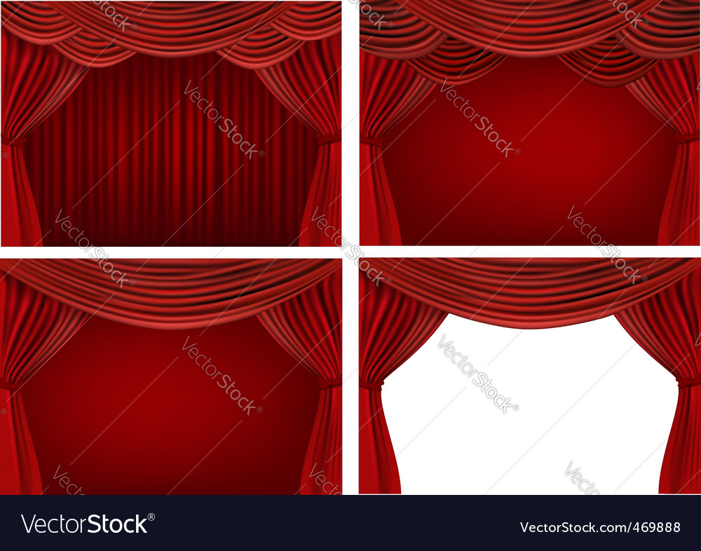 Stage curtains vector | Price: 1 Credit (USD $1)