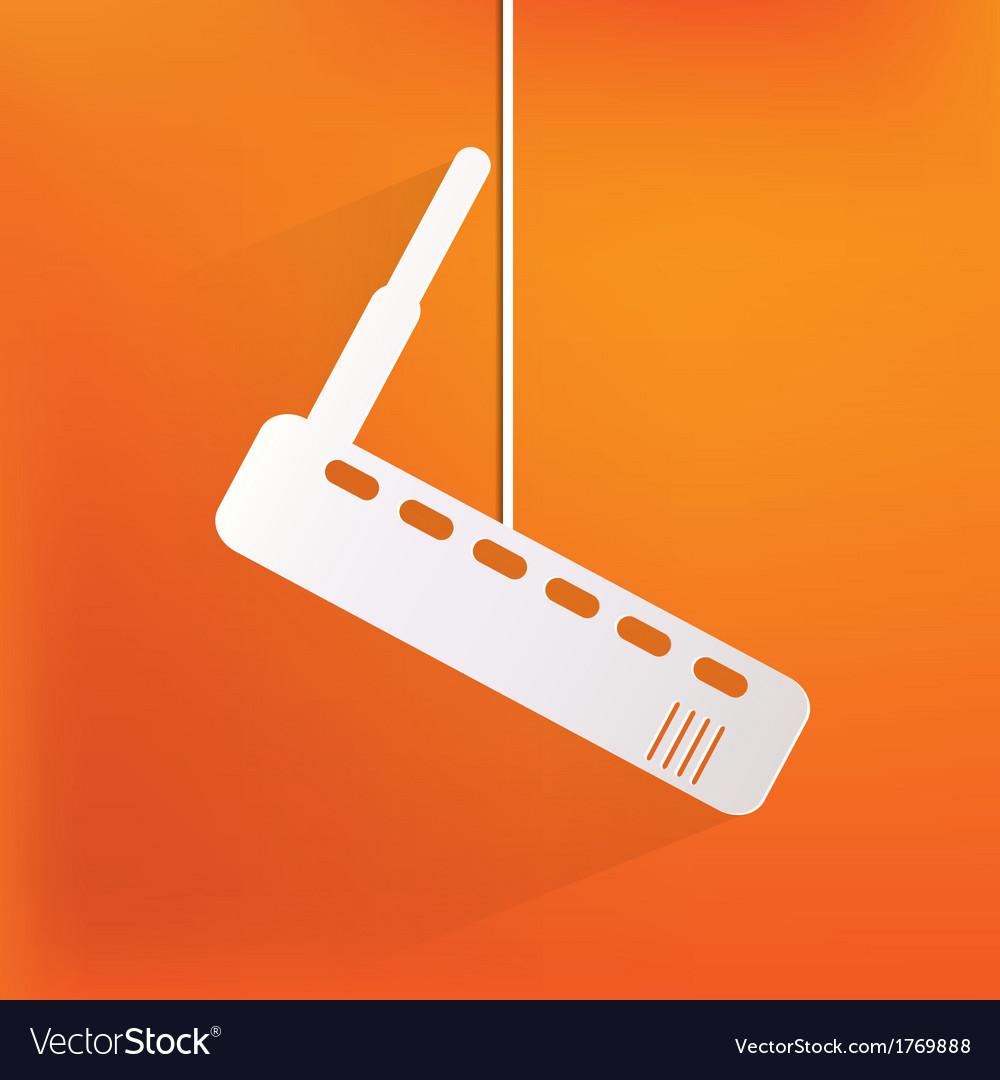 Wi fi router web icon vector | Price: 1 Credit (USD $1)