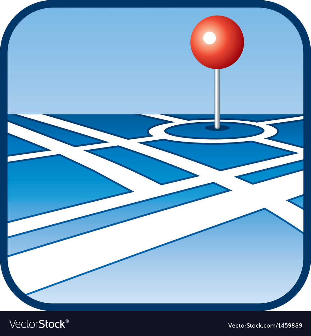 City map with gps icon vector | Price: 1 Credit (USD $1)