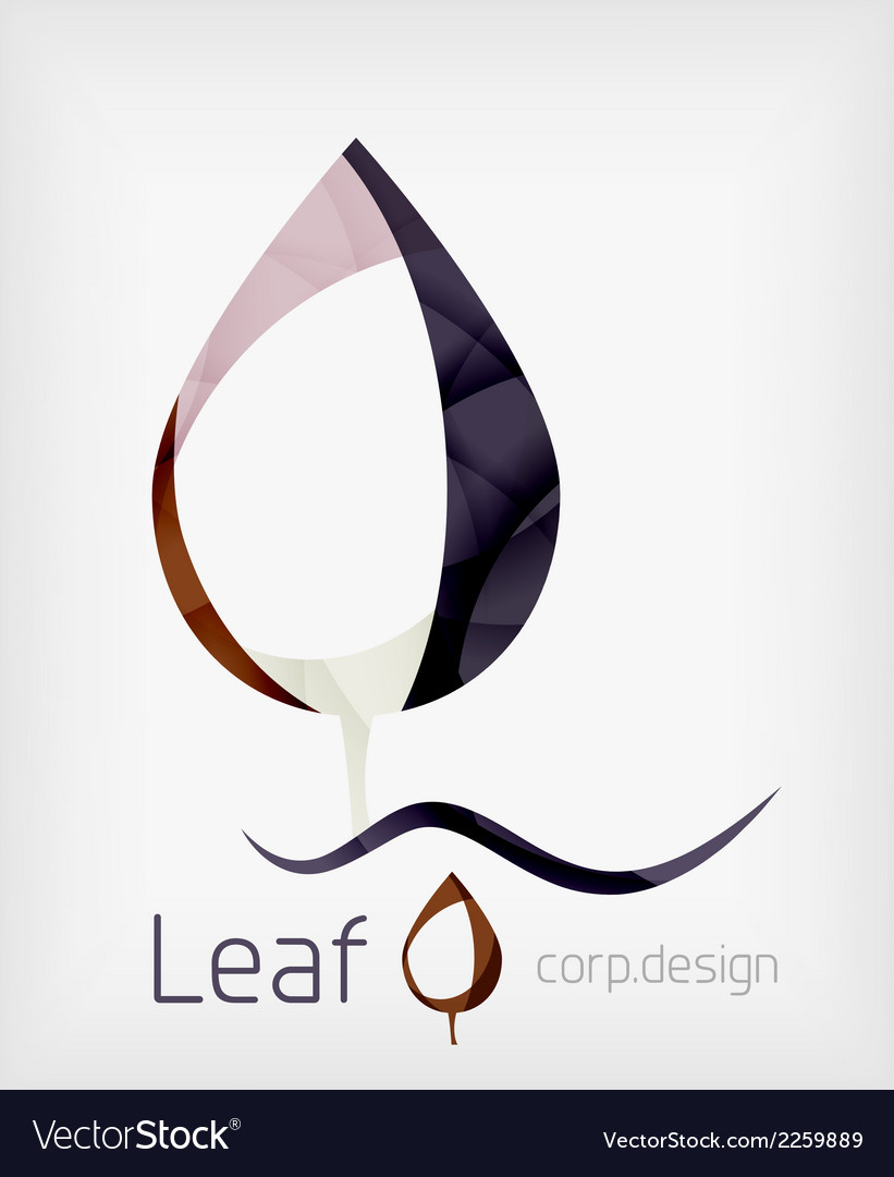Flat design abstract leaf shape concept vector   Price: 1 Credit (USD $1)