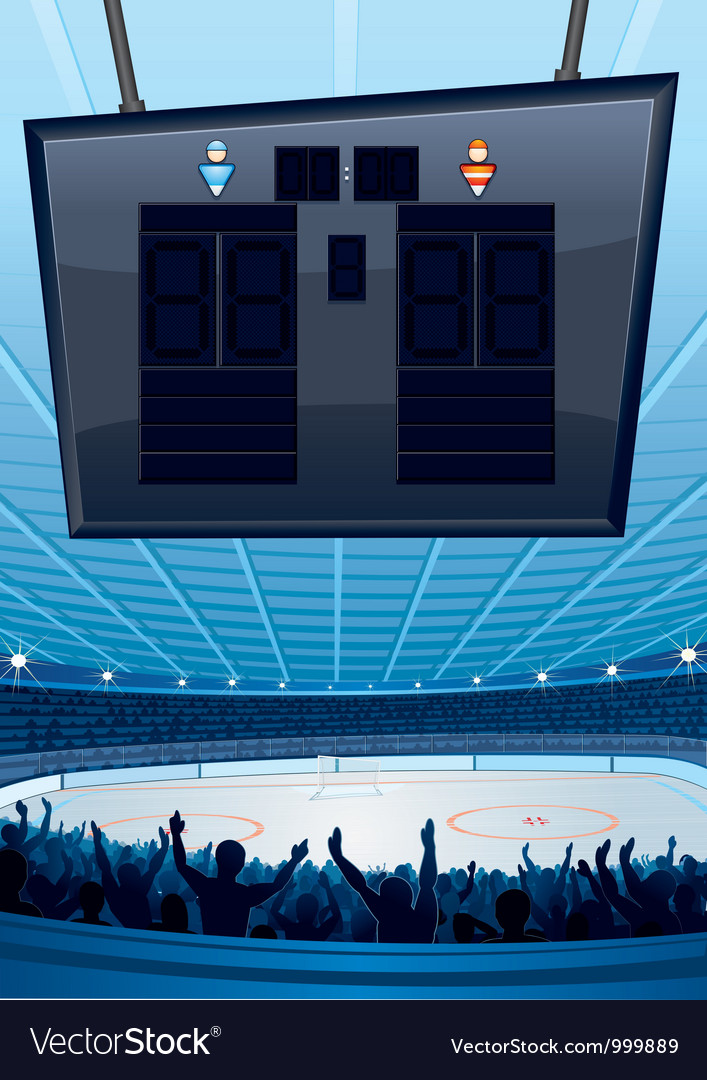 Hockey sports stadiums vector | Price: 1 Credit (USD $1)