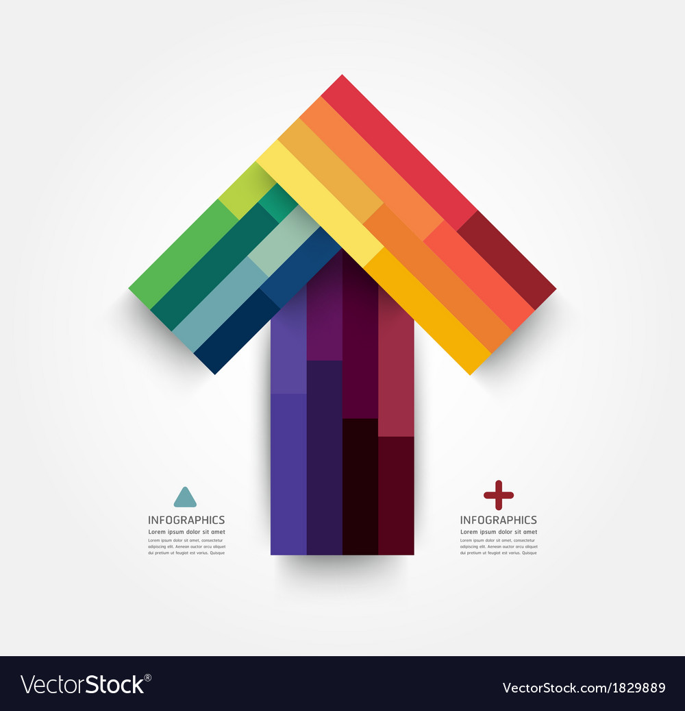 Modern design minimal arrow style infographic vector