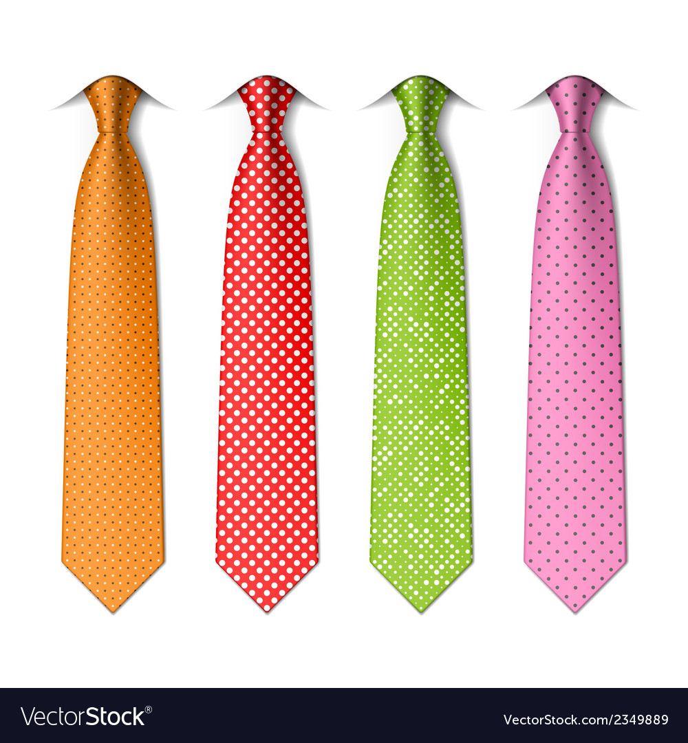 Polka and pin dots silk ties vector | Price: 1 Credit (USD $1)
