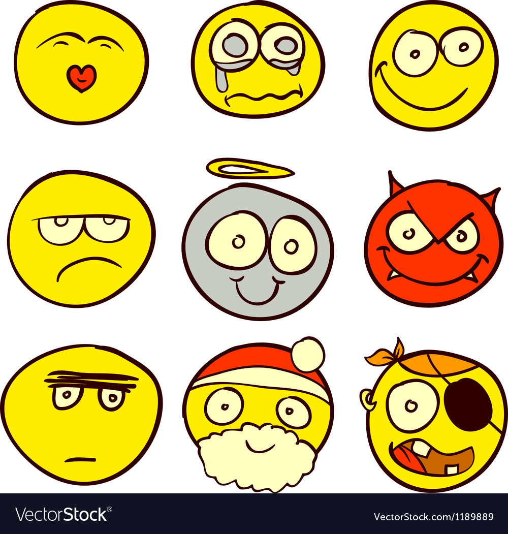 Smiley doodle 1 vector | Price: 1 Credit (USD $1)