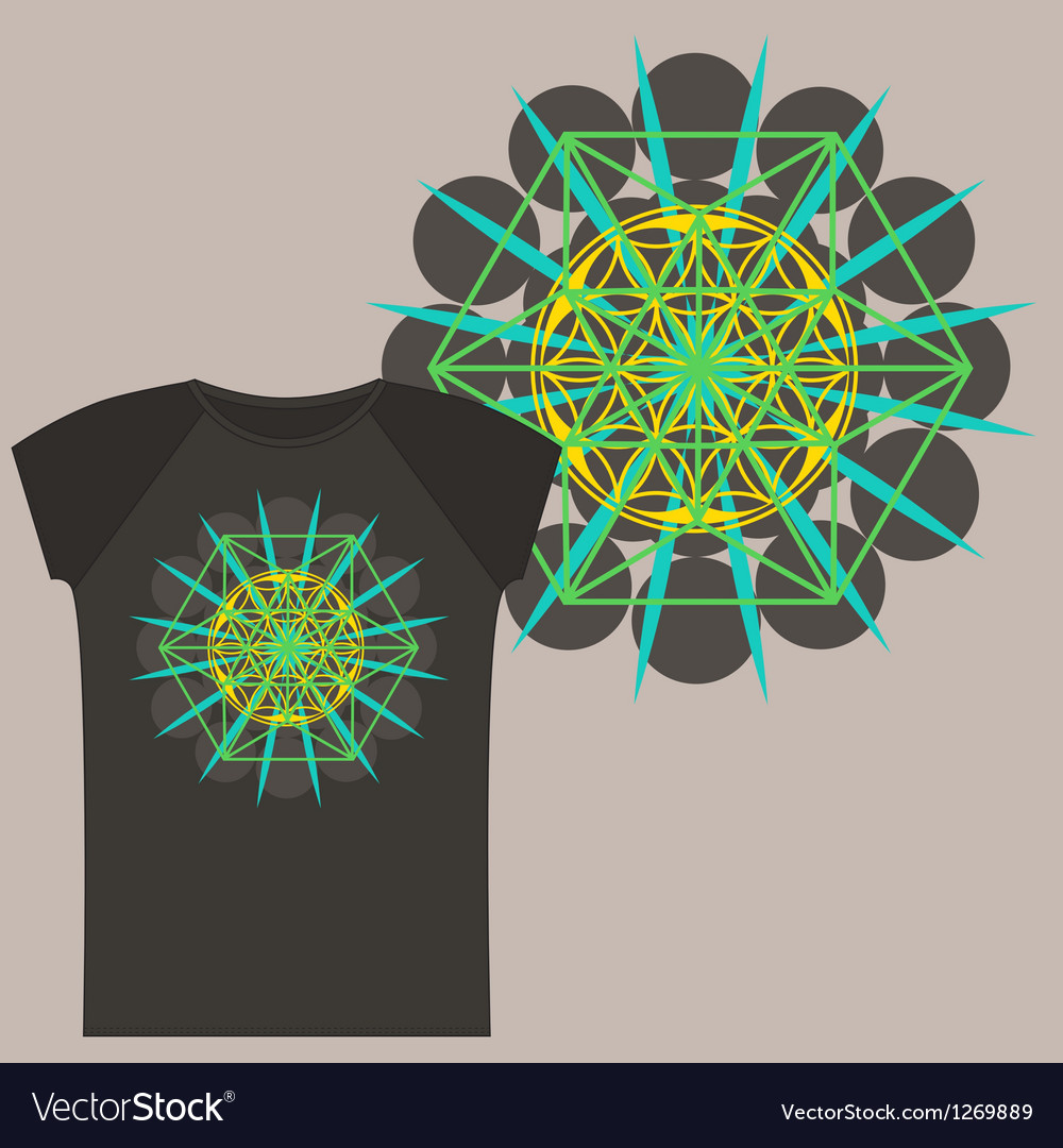 Star tetrahedron design for a t shirt vector | Price: 1 Credit (USD $1)