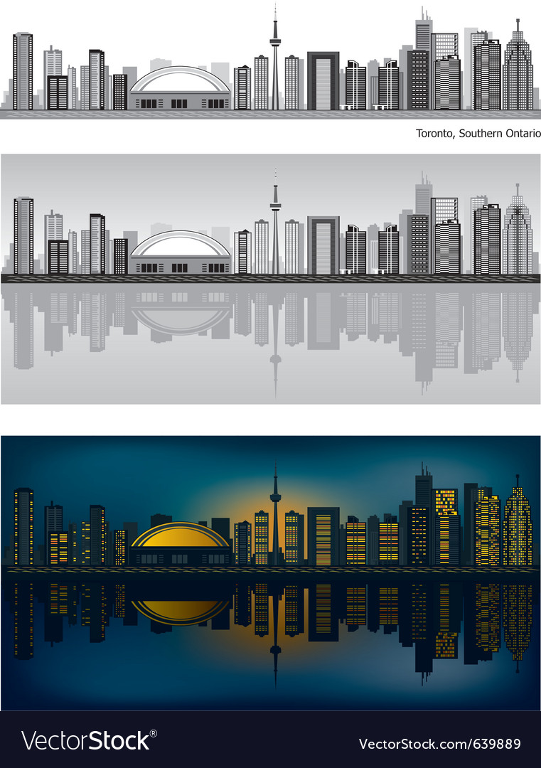 Toronto skyline vector | Price: 3 Credit (USD $3)