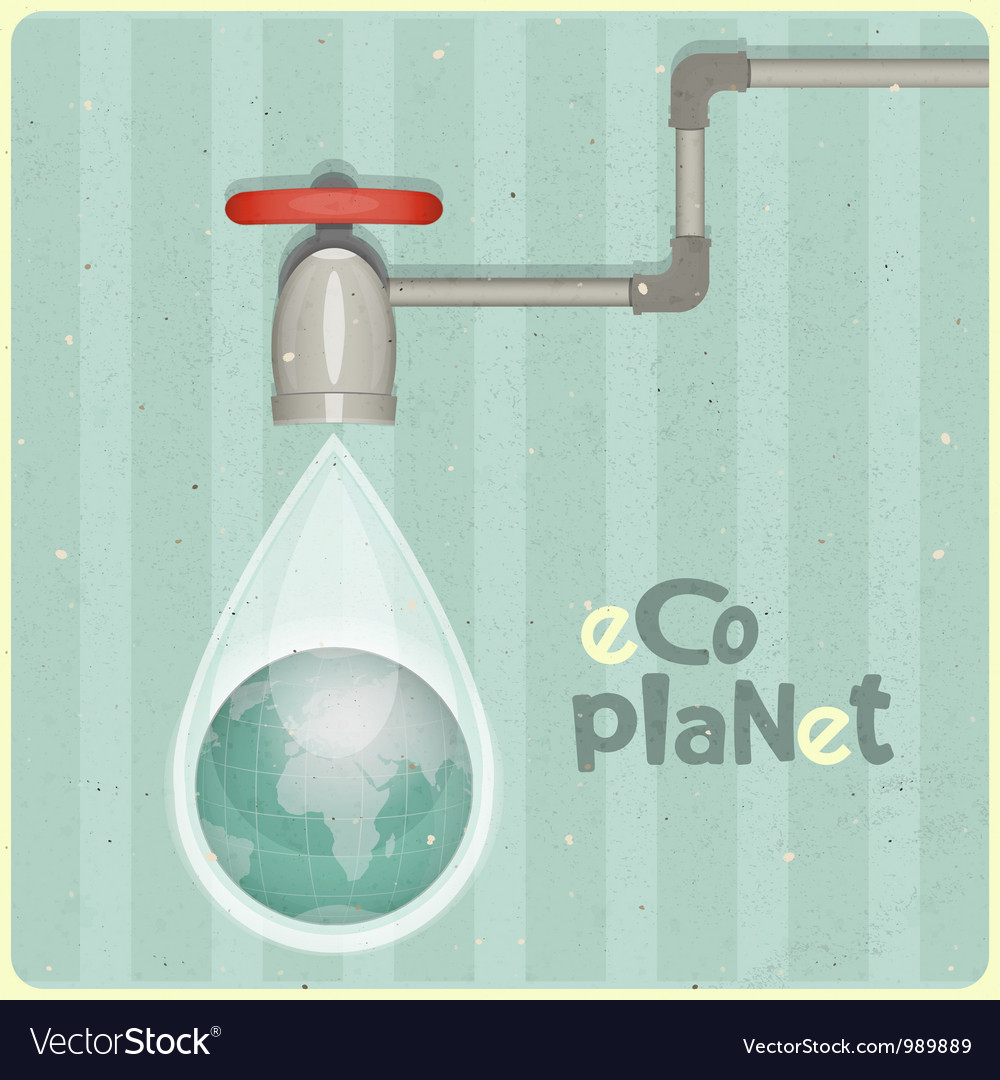 Water planet vector | Price: 1 Credit (USD $1)