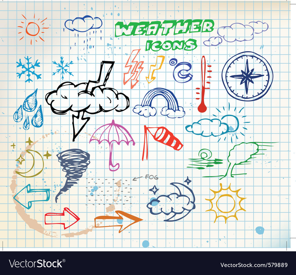 Weather sketch vector | Price: 1 Credit (USD $1)