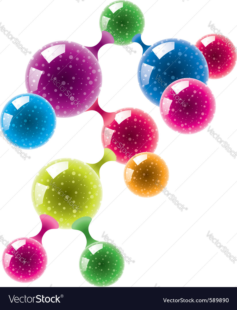 Abstract molecule or microbe background vector | Price: 1 Credit (USD $1)