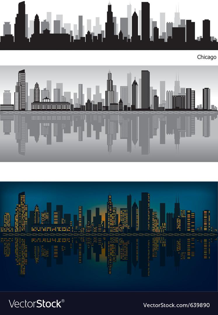 Chicago skyline vector | Price: 3 Credit (USD $3)