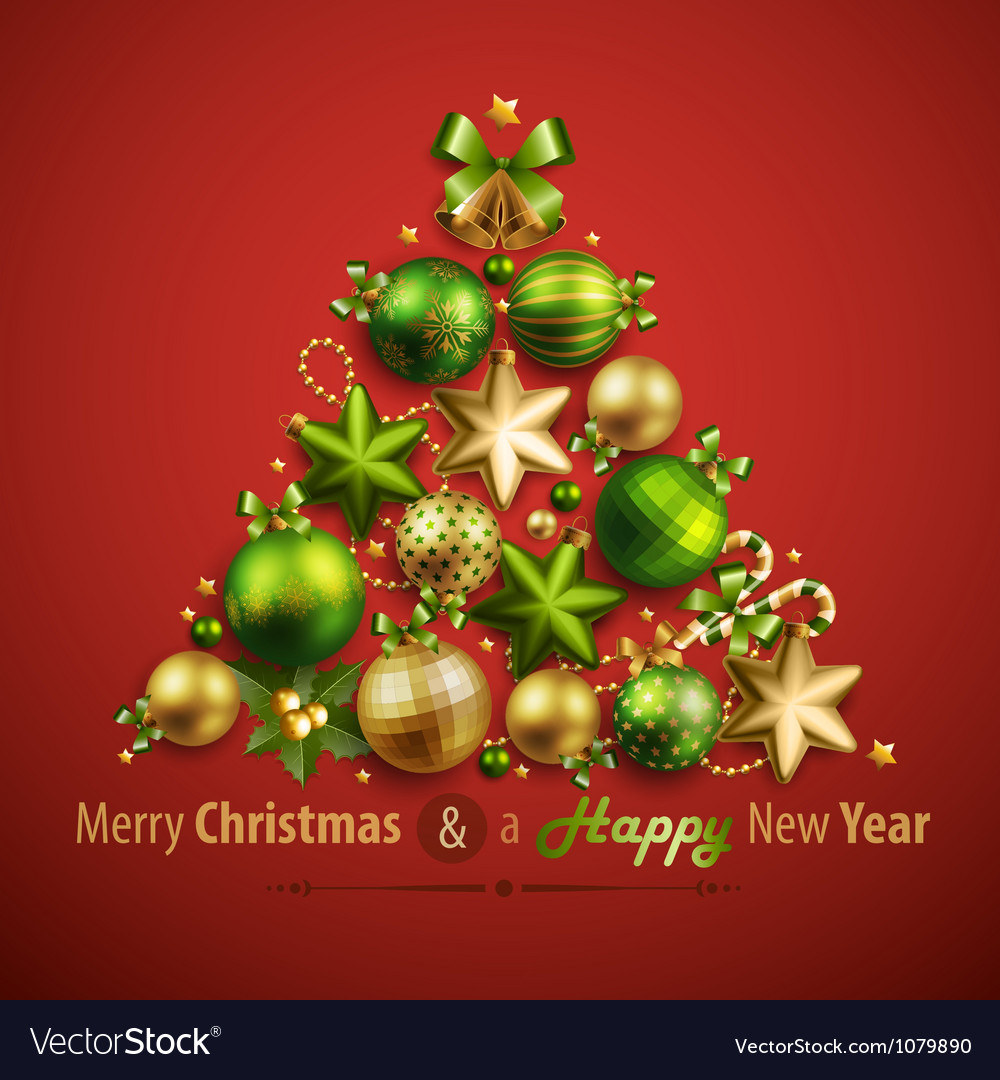 Christmas card with place for text vector | Price: 1 Credit (USD $1)
