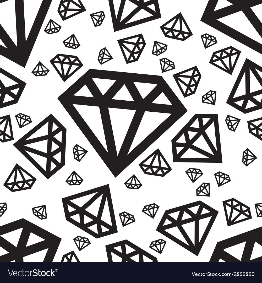 Diamond seamless pattern vector | Price: 1 Credit (USD $1)