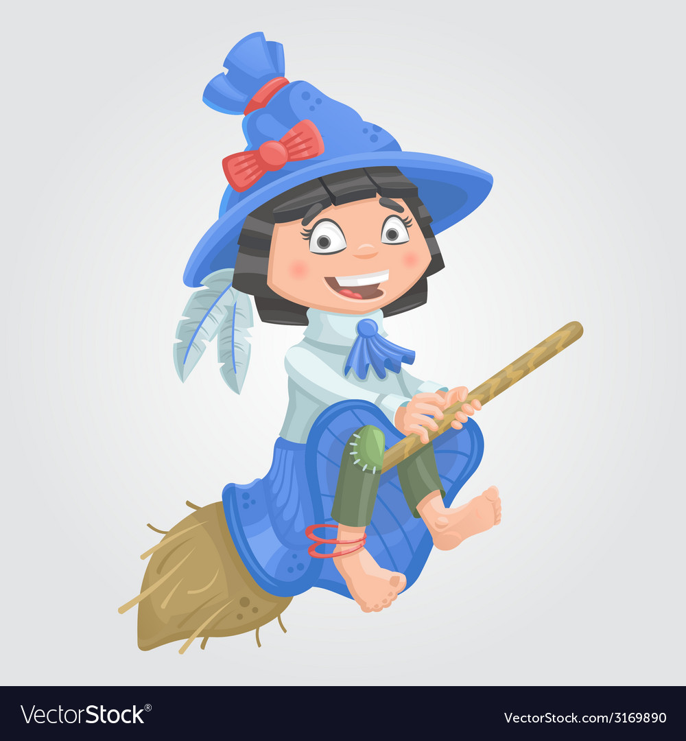 Girl witch halloween vector | Price: 1 Credit (USD $1)