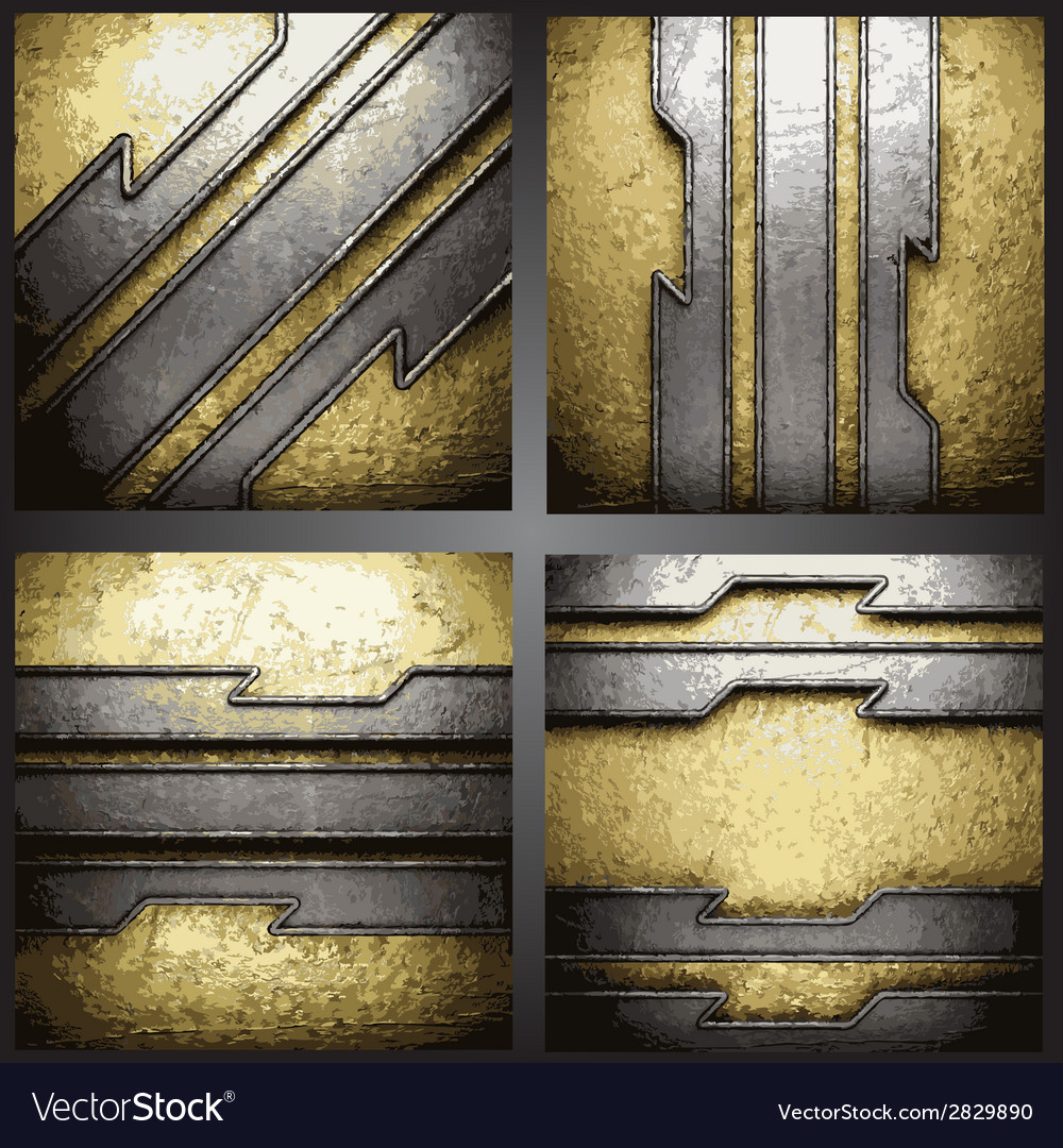 Golden background set vector | Price: 1 Credit (USD $1)