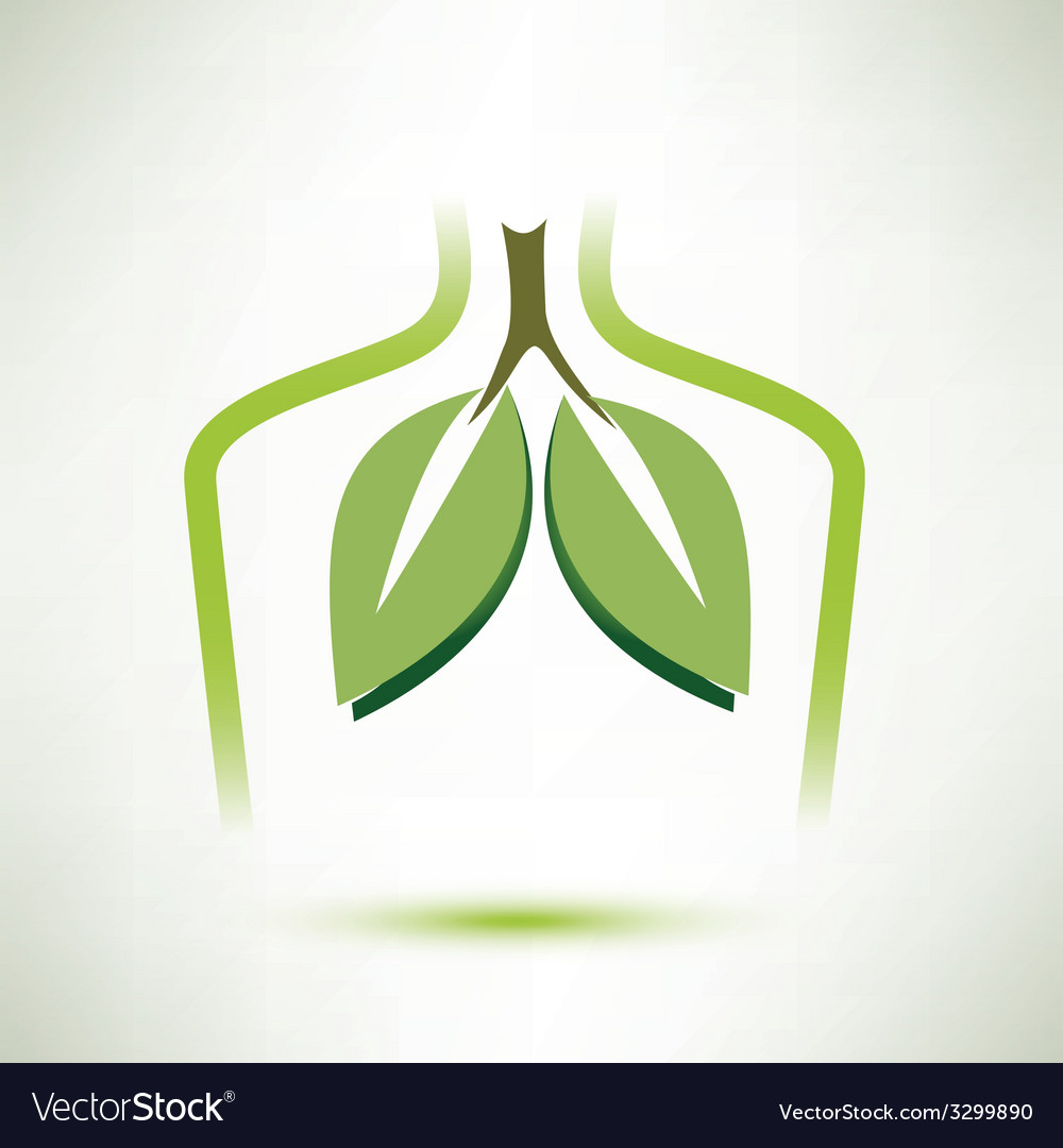 Lungs isolated symbol stylized icon vector | Price: 1 Credit (USD $1)