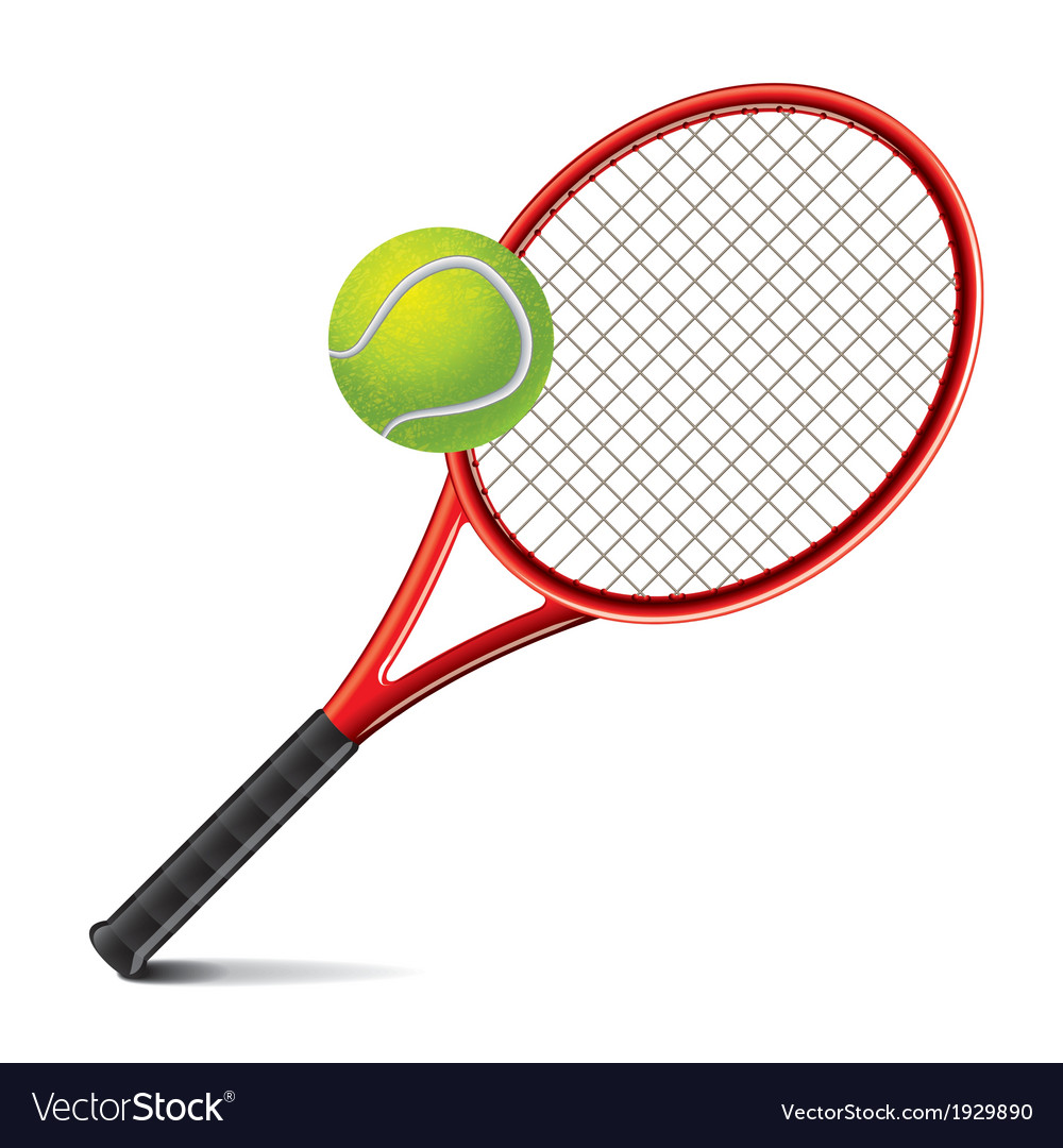 Object tennis racket and ball vector | Price: 1 Credit (USD $1)