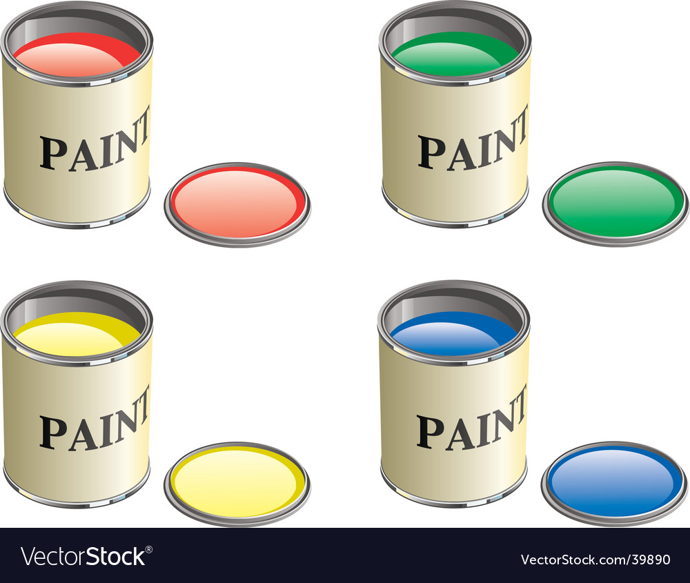 Paint can vector | Price: 1 Credit (USD $1)