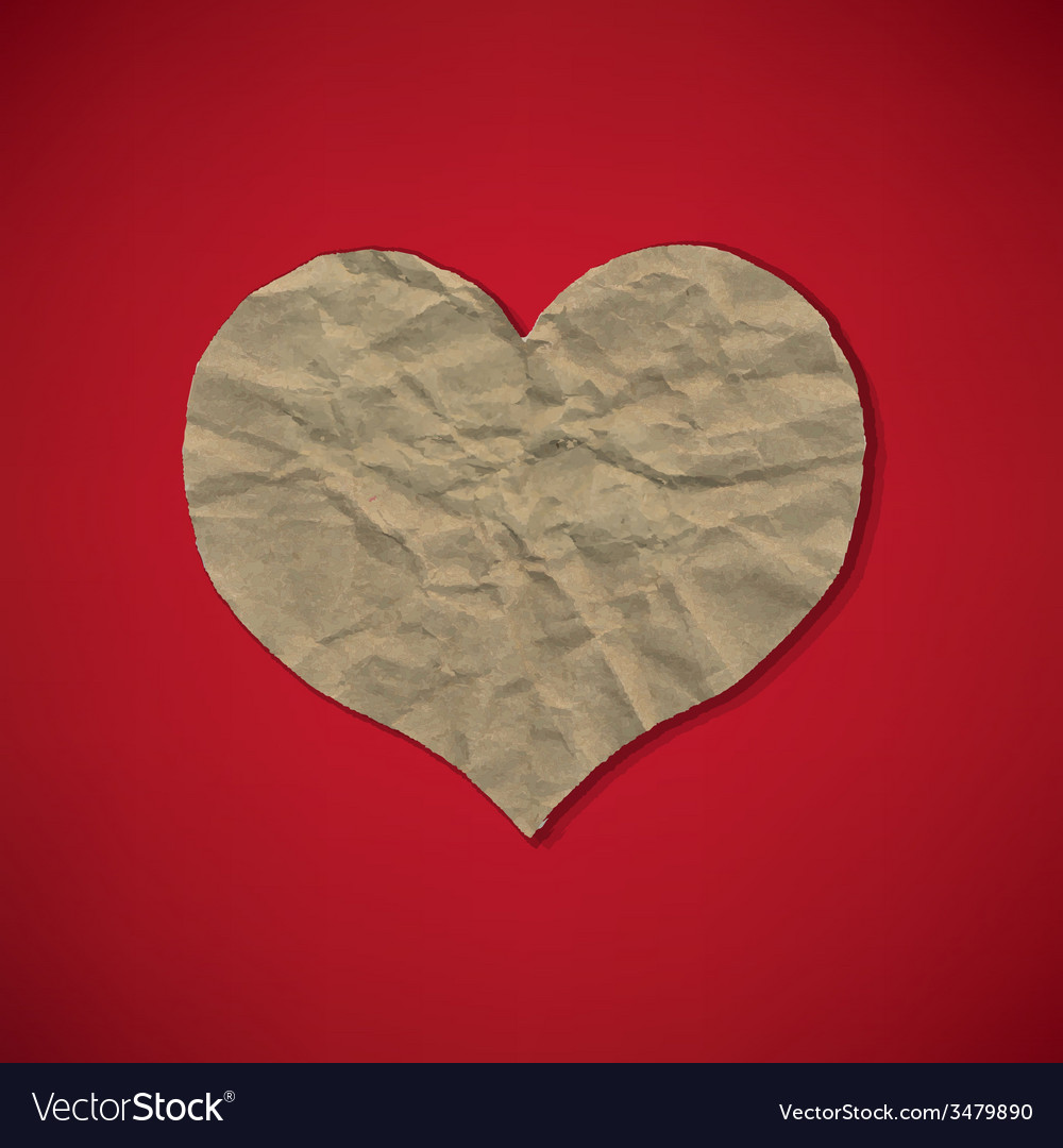 Red paper with heart vector | Price: 1 Credit (USD $1)