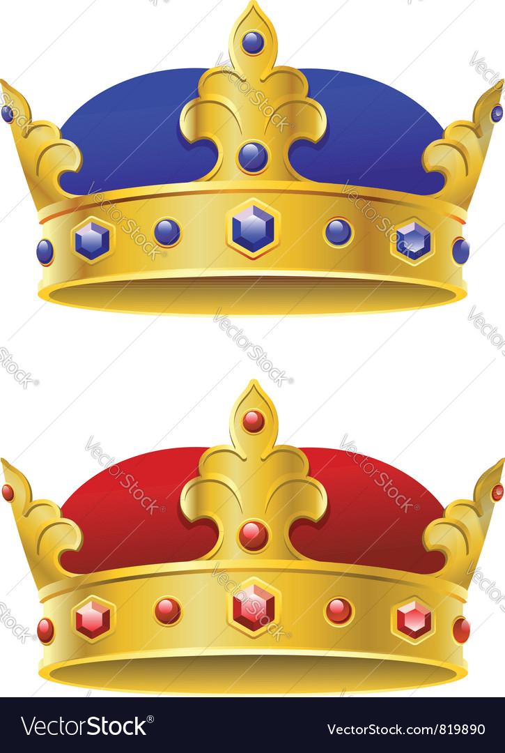 Royal crowns vector | Price: 1 Credit (USD $1)