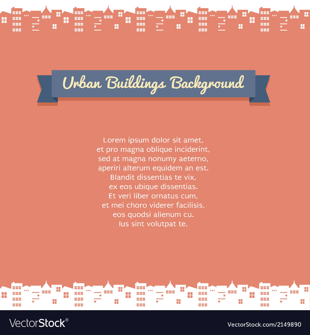 Urban building background vector | Price: 1 Credit (USD $1)