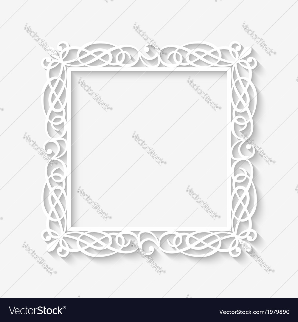 Vintage white frame background vector | Price: 1 Credit (USD $1)