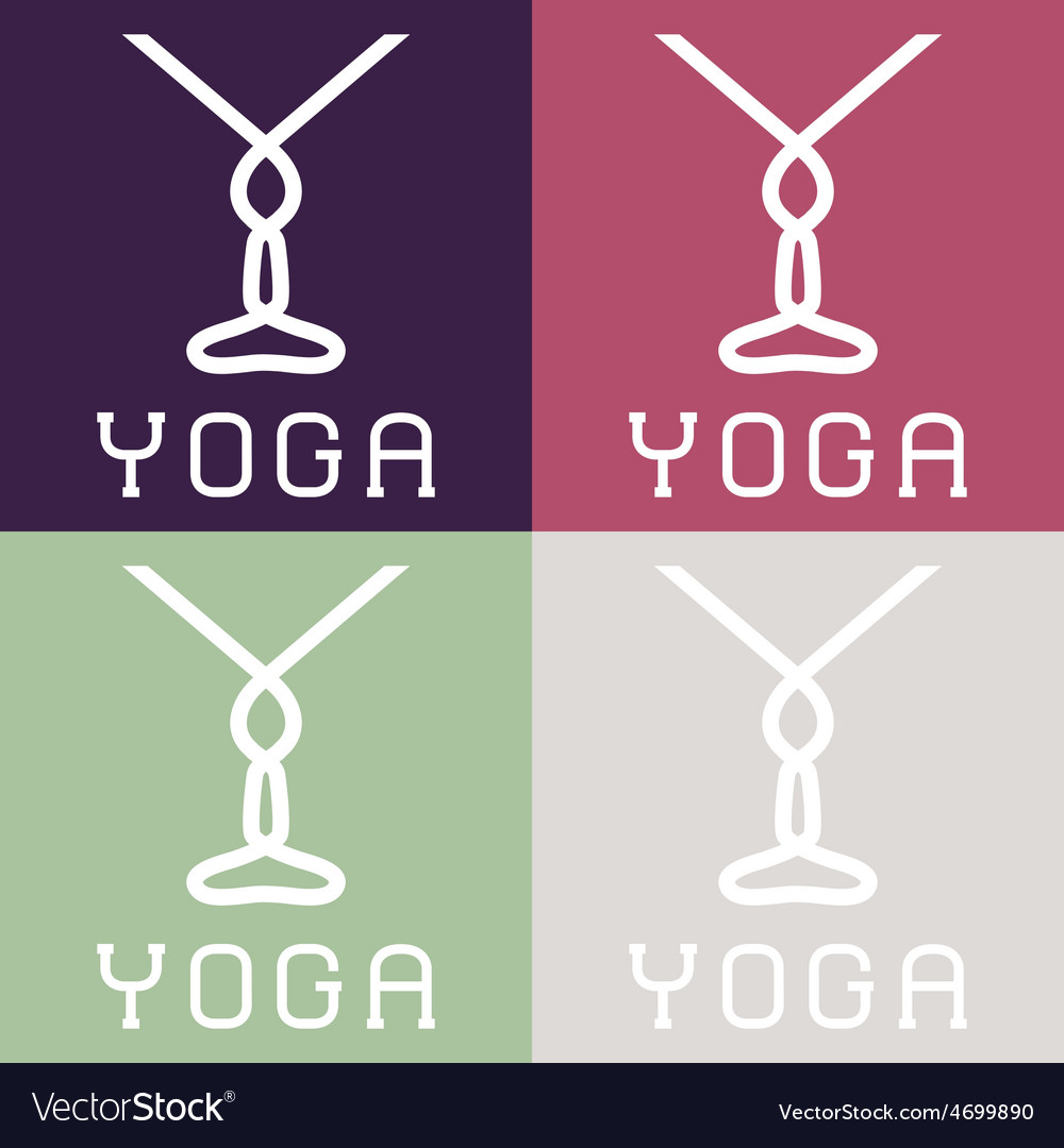 Yoga monogram vector | Price: 1 Credit (USD $1)