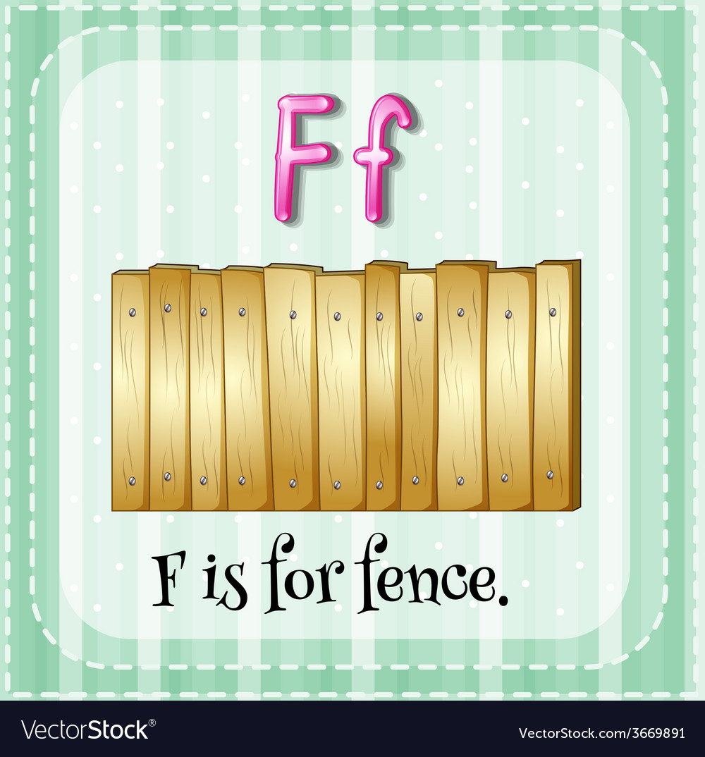 A letter f for fence vector | Price: 1 Credit (USD $1)