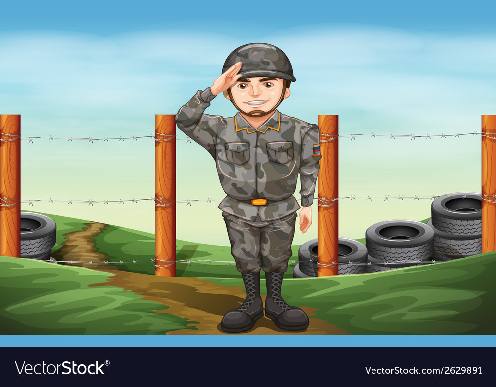 A military officer vector | Price: 3 Credit (USD $3)