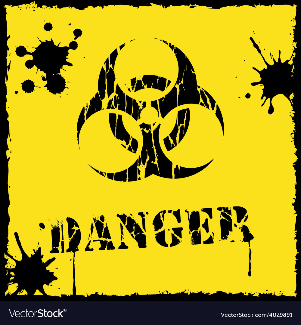 Biohazard icon yellow and black vector | Price: 1 Credit (USD $1)