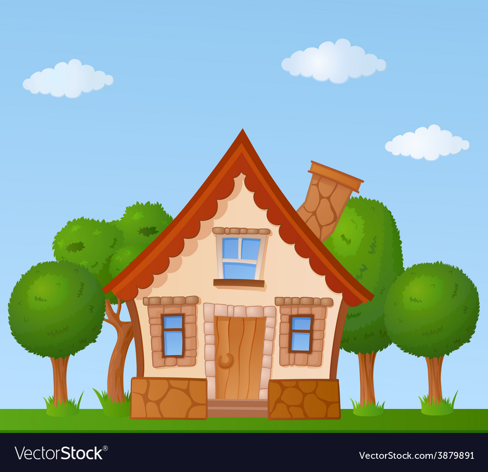 Cartoon house vector | Price: 1 Credit (USD $1)