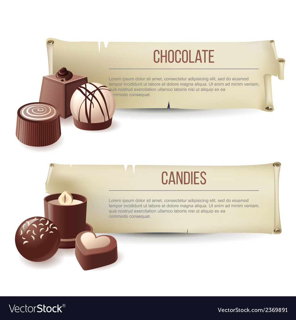 Chocolate candies banners vector | Price: 1 Credit (USD $1)