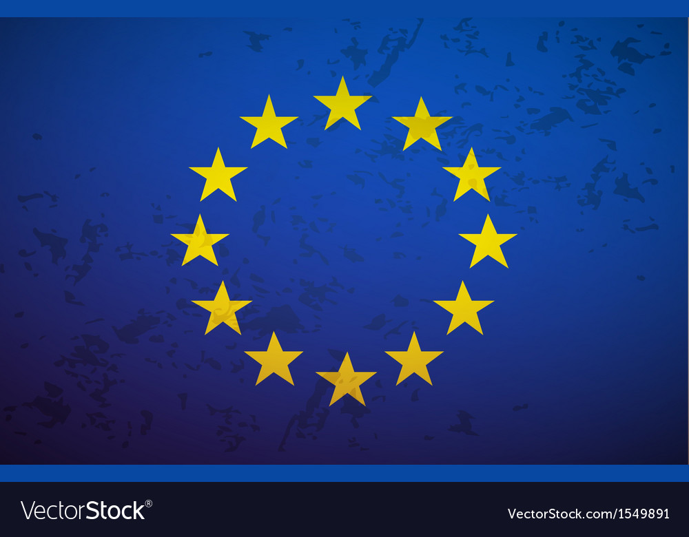 Flag european union vector | Price: 1 Credit (USD $1)