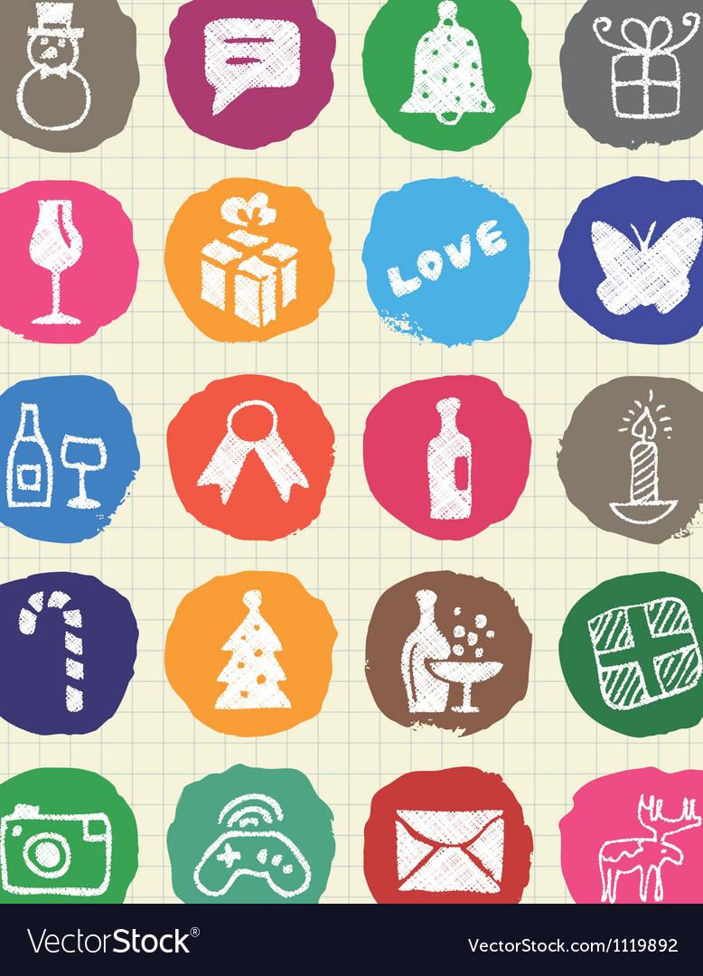 Christmas and other holidays web icons set vector | Price: 1 Credit (USD $1)