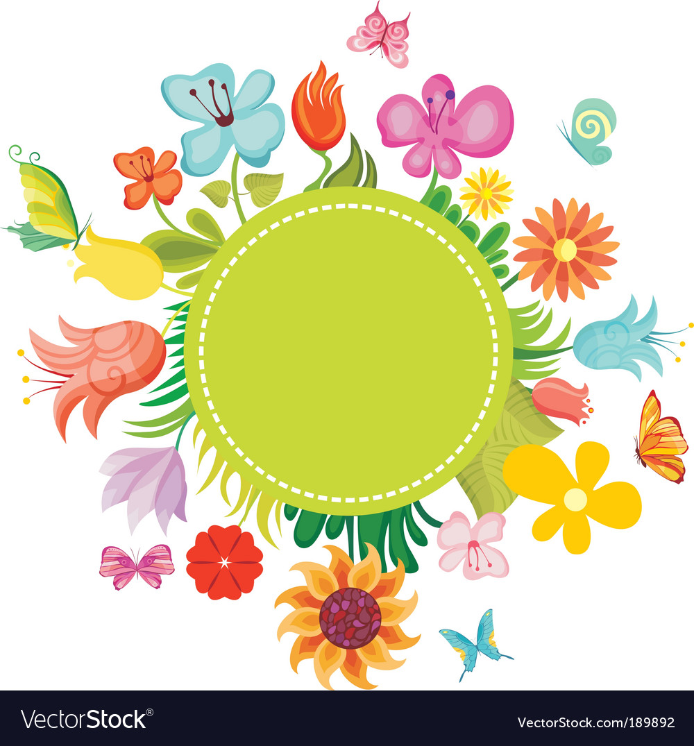 Flower card vector | Price:  Credit (USD $)