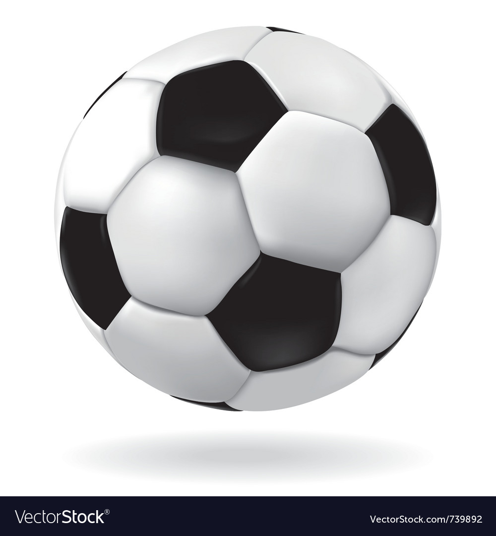 Leather soccer ball vector | Price: 1 Credit (USD $1)