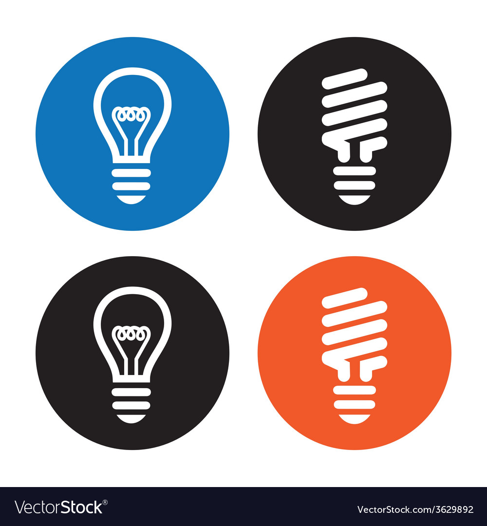 Light bulbs icons vector | Price: 1 Credit (USD $1)